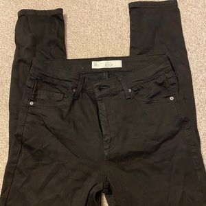 TopShop Moto Leigh black skinny jeans size 28